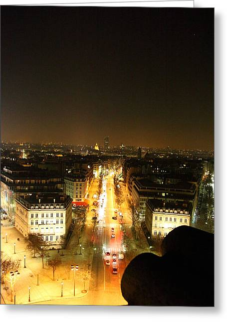 View From Arc De Triomphe - Paris France - 01139 Greeting Card by DC Photographer