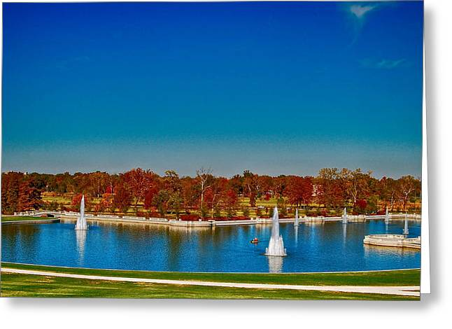 View From Art Hill Forest Park Missouri Greeting Card