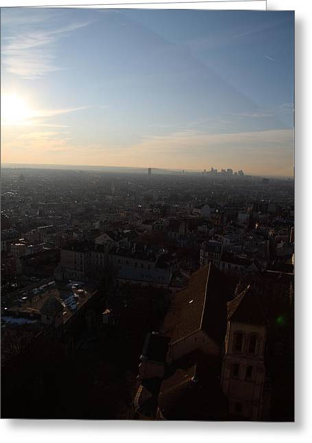 View From Basilica Of The Sacred Heart Of Paris - Sacre Coeur - Paris France - 011315 Greeting Card by DC Photographer