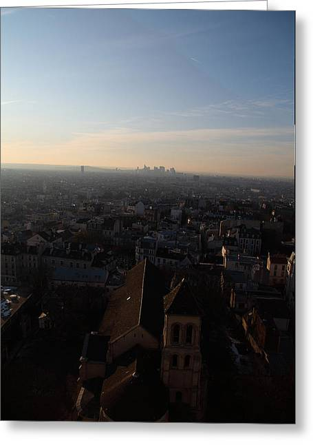 View From Basilica Of The Sacred Heart Of Paris - Sacre Coeur - Paris France - 011317 Greeting Card