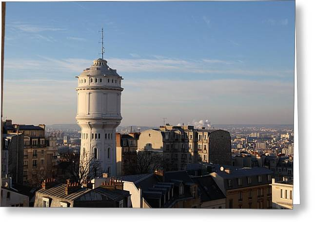 View From Basilica Of The Sacred Heart Of Paris - Sacre Coeur - Paris France - 01132 Greeting Card by DC Photographer