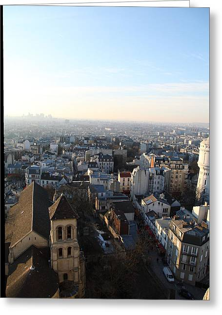 View From Basilica Of The Sacred Heart Of Paris - Sacre Coeur - Paris France - 011320 Greeting Card