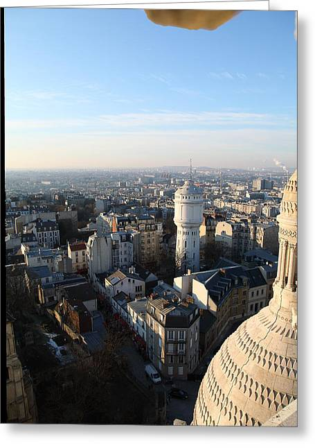 View From Basilica Of The Sacred Heart Of Paris - Sacre Coeur - Paris France - 011322 Greeting Card by DC Photographer