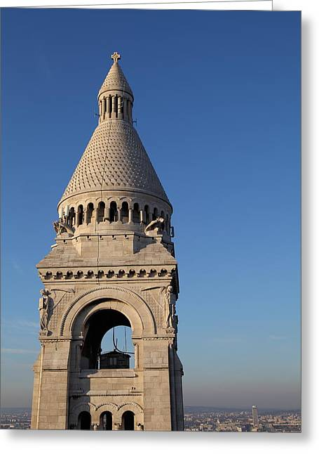 View From Basilica Of The Sacred Heart Of Paris - Sacre Coeur - Paris France - 011324 Greeting Card
