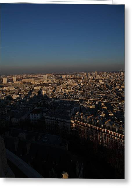 View From Basilica Of The Sacred Heart Of Paris - Sacre Coeur - Paris France - 011325 Greeting Card