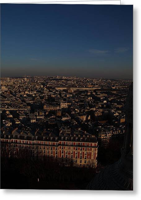 View From Basilica Of The Sacred Heart Of Paris - Sacre Coeur - Paris France - 011329 Greeting Card