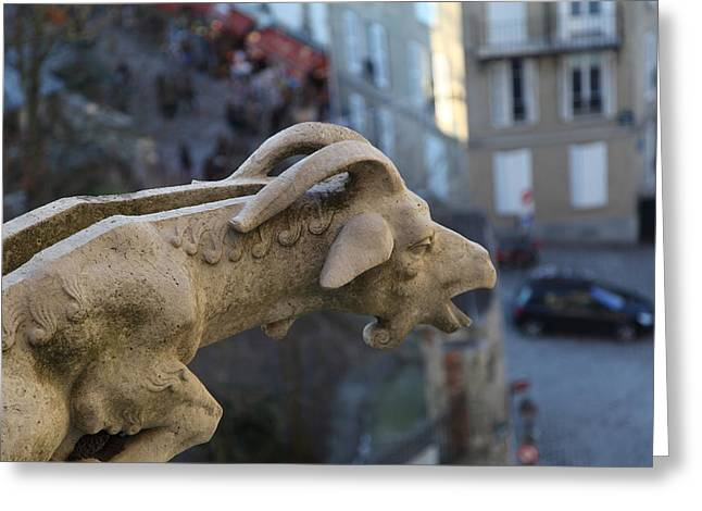 View From Basilica Of The Sacred Heart Of Paris - Sacre Coeur - Paris France - 01133 Greeting Card by DC Photographer