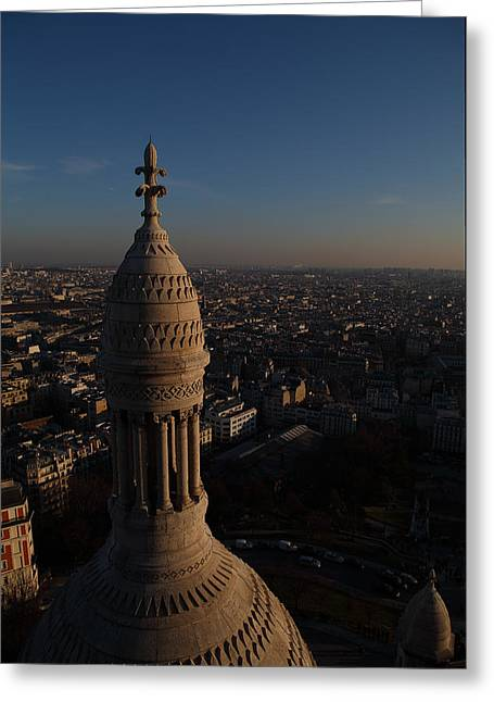 View From Basilica Of The Sacred Heart Of Paris - Sacre Coeur - Paris France - 011333 Greeting Card
