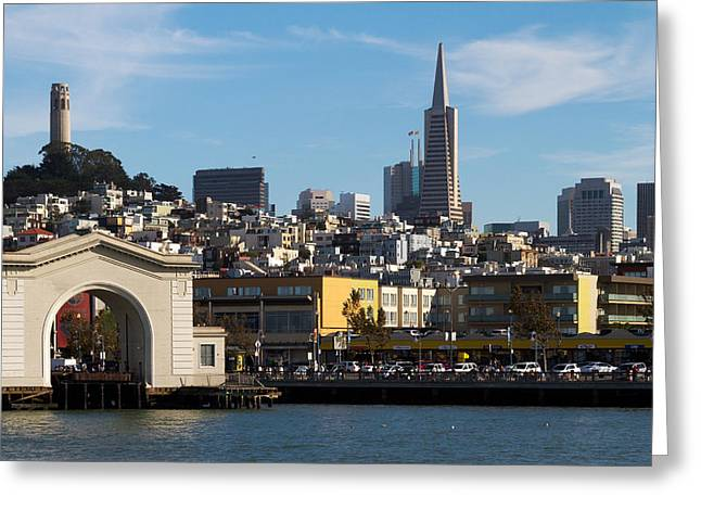 View From Bay Greeting Card by Bernard  Barcos