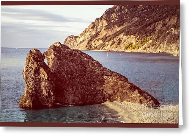 View From Beach Of Monterosso Greeting Card