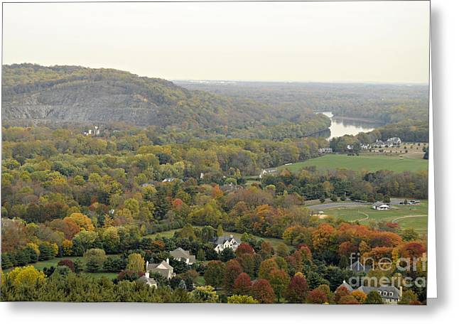 View From Bowman's Tower South Greeting Card by Addie Hocynec