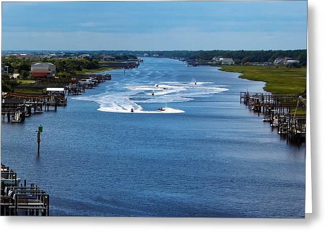 View From Bridge Greeting Card by Cynthia Guinn