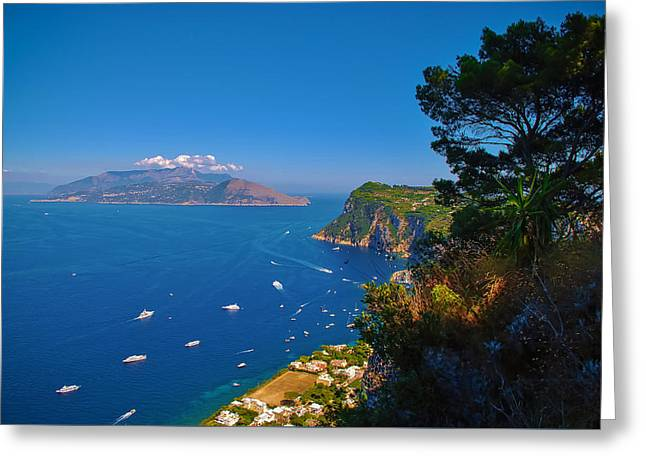 View From Capri Greeting Card by Dany Lison