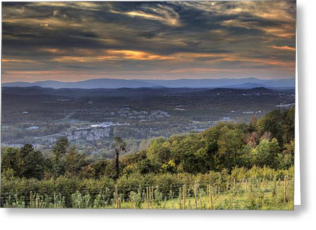 View From Carters Mountain Greeting Card by Tim Wilson