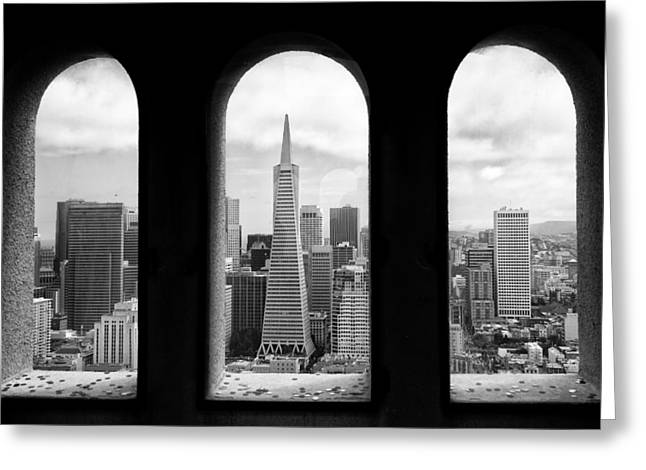 View From Coit Tower Greeting Card by Celso Diniz