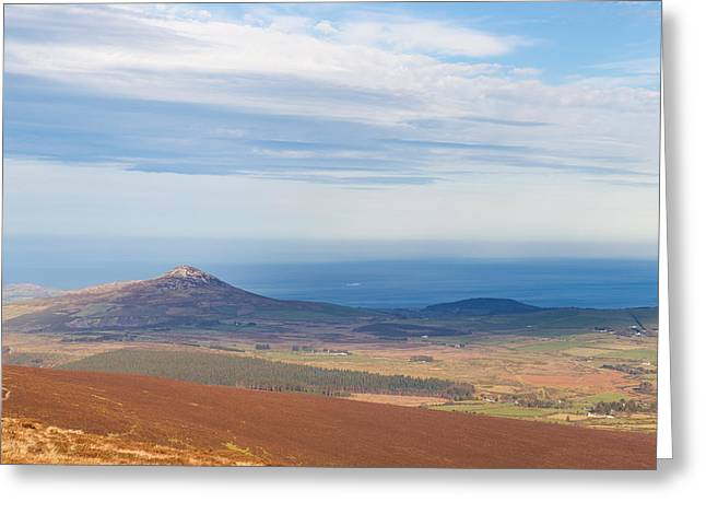 View From Djouce Mountain Towards Sugar Loaf Greeting Card by Semmick Photo