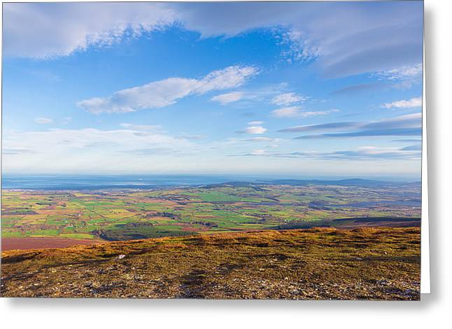 View From Djouce Towards The Irish Coast Line Greeting Card by Semmick Photo