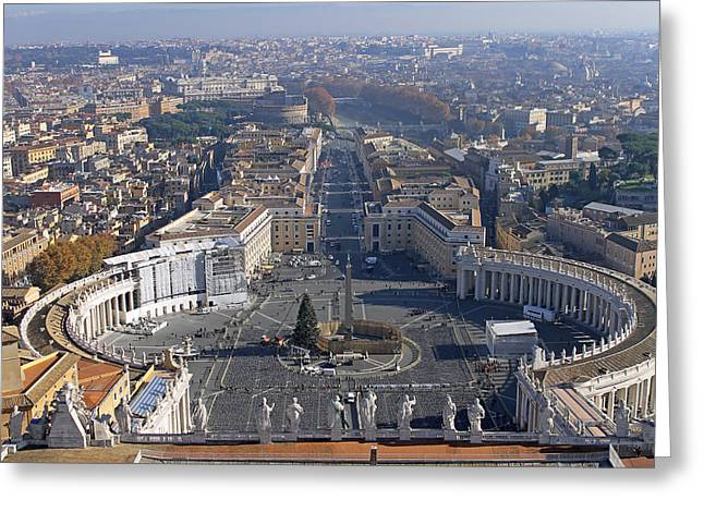 View From Dome Of St Peters Greeting Card