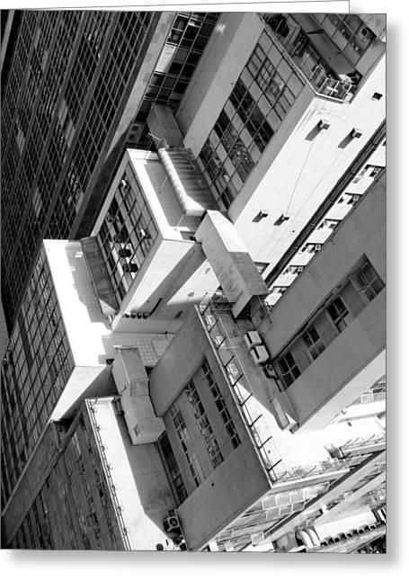 View From Edificio Martinelli Bw - Sao Paulo Greeting Card