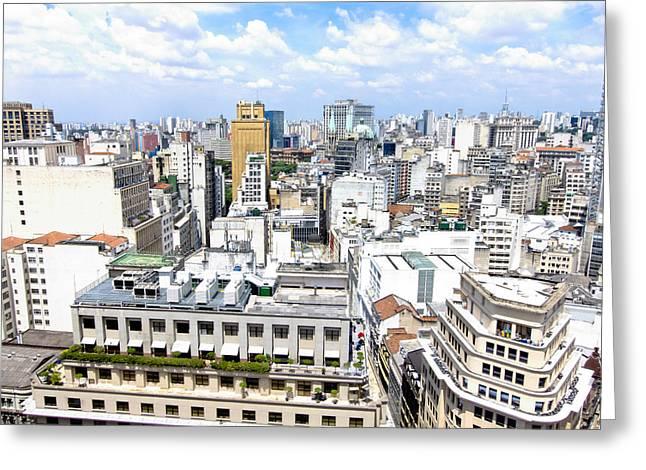 View From Edificio Martinelli - Sao Paulo Greeting Card