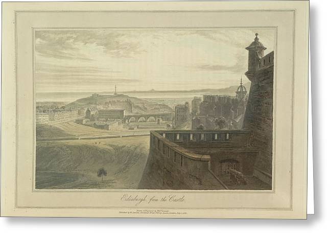 View From Edingbutgh Castle Over The City Greeting Card by British Library