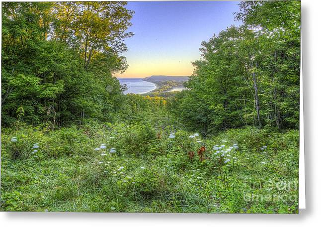 View From Empire Bluff Trail Greeting Card by Twenty Two North Photography