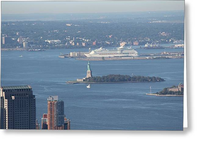 View From Empire State Building Greeting Card by David Grant
