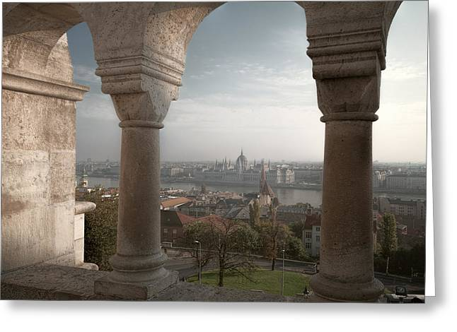 View From Fishermans Bastion Greeting Card