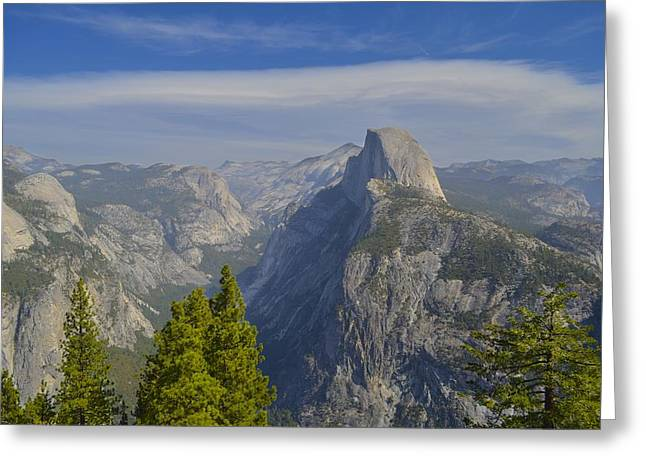 View From Glacier Point Yosemite Greeting Card by Alex King
