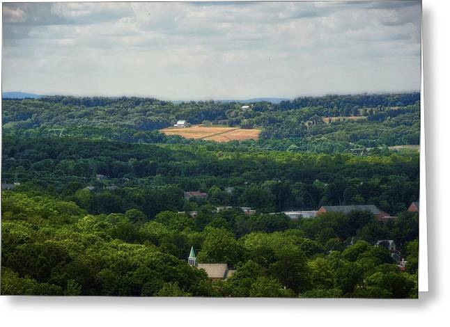 Greeting Card featuring the photograph View From Goat Hill by Debra Fedchin