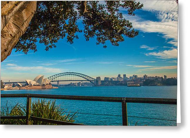 View From Lady Macquarie's Chair Greeting Card by Dasmin Niriella