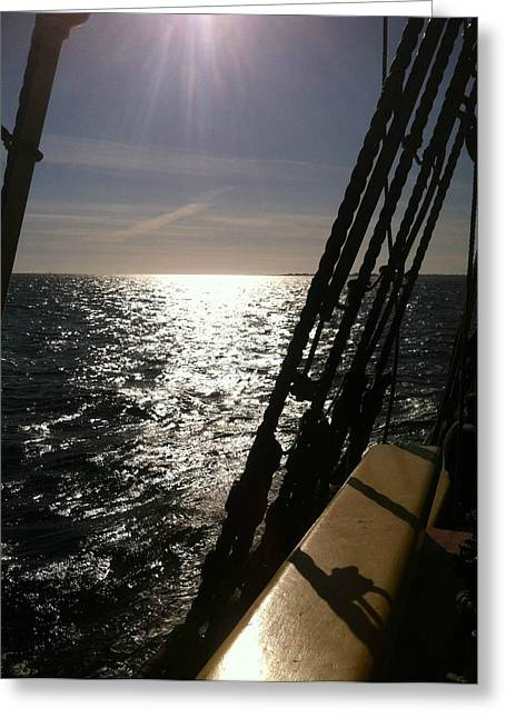 Greeting Card featuring the photograph View From Lady Washington by Deahn      Benware