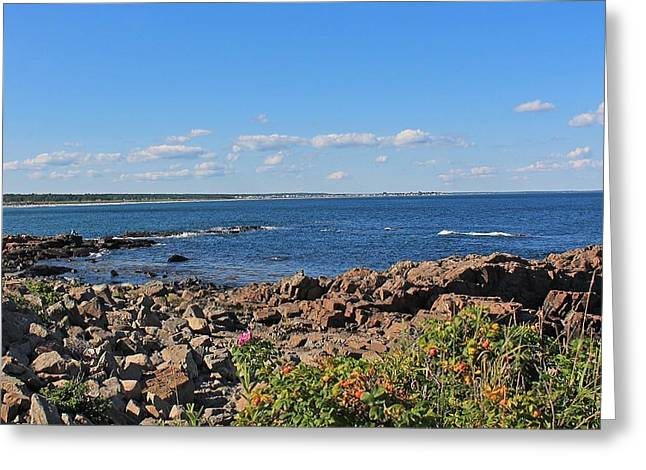 View From Marginal Way Ogunquit Maine 3 Greeting Card