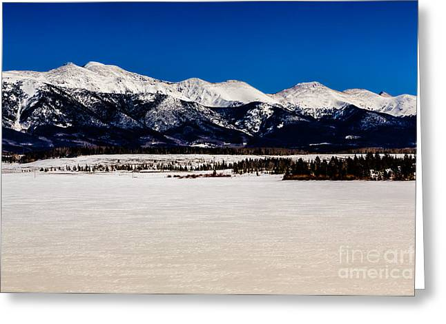 View From Meadow Creek Resevoir Greeting Card