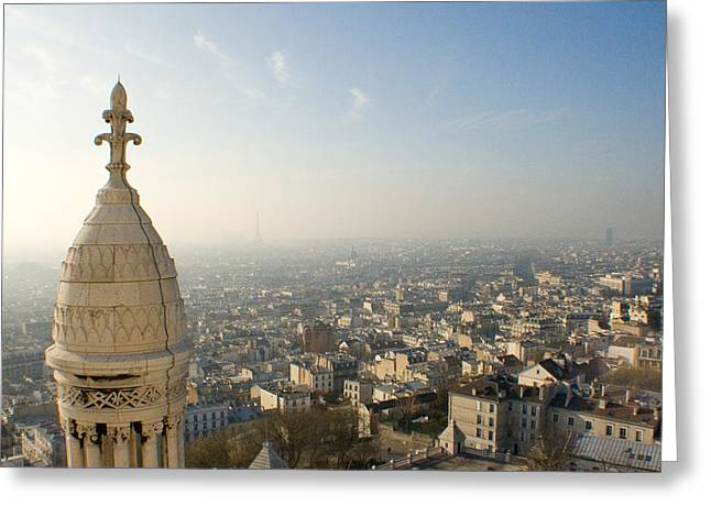 Greeting Card featuring the photograph View From Montmartre by Jon Emery
