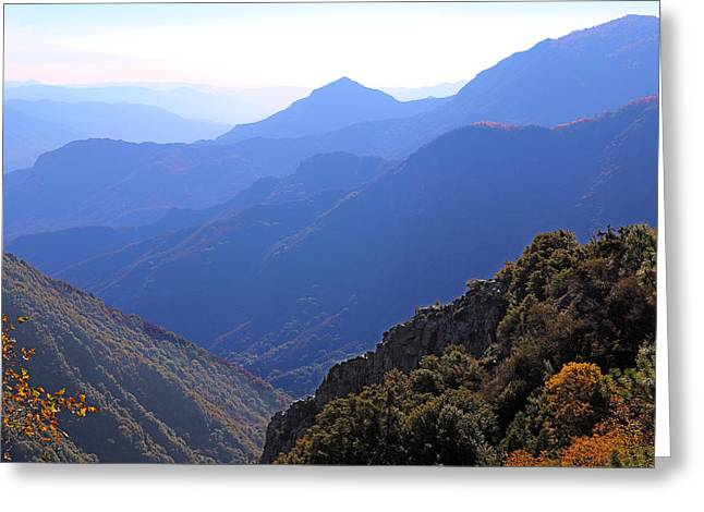 View From Moro Rock Greeting Card