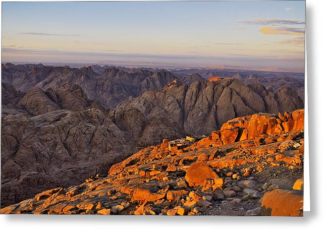 View From Mount Sinai Greeting Card by Ivan Slosar