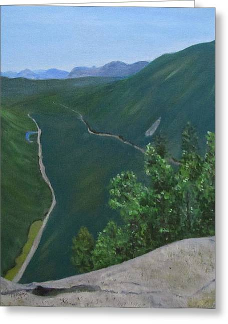 View From Mount Willard Greeting Card