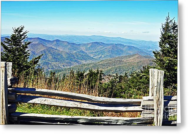 View From Mt. Mitchell Summit Greeting Card