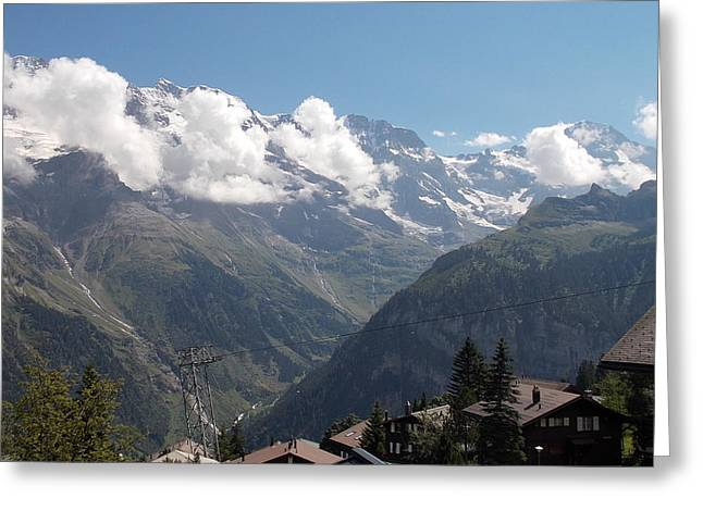 View From Murren Greeting Card