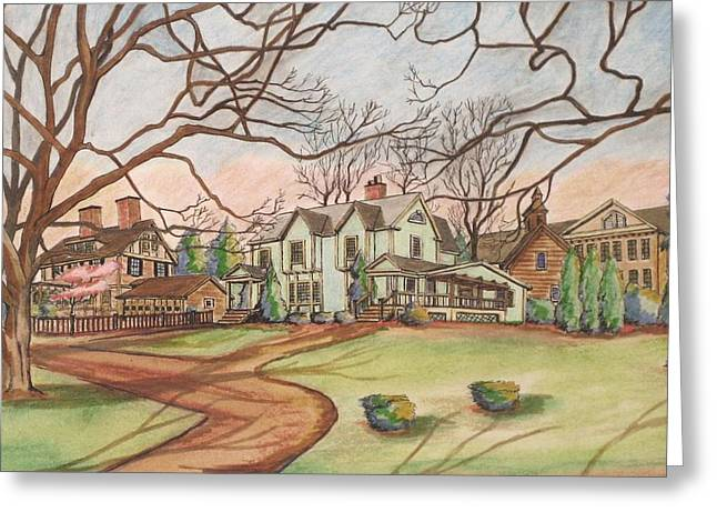 View From My Library Greeting Card by Paul Meinerth