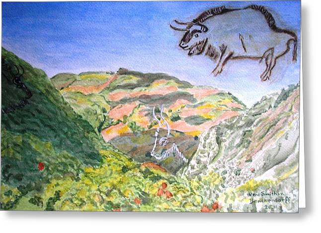 View From Niaux Cave In France Greeting Card