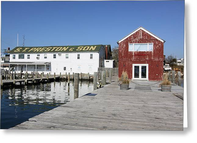 View From Pier Greenport New York Greeting Card