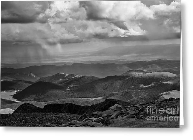 View From Pikes Peak Greeting Card