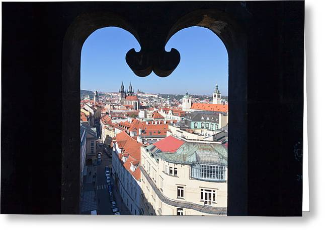 View From Prasna Brana Tower Greeting Card