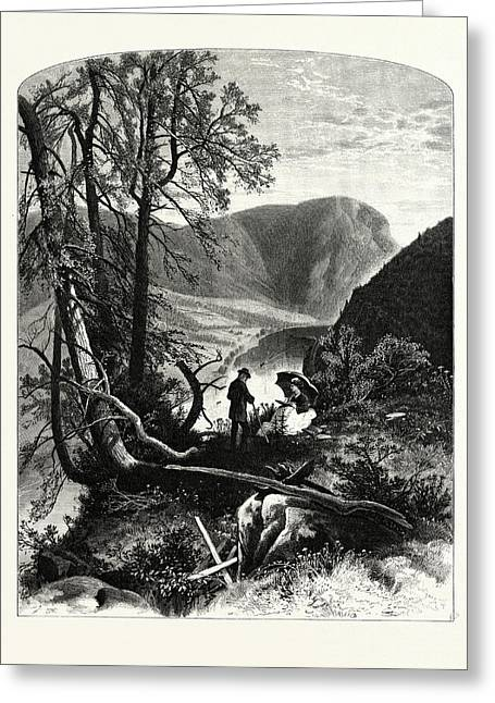 View From Prospect Rock Greeting Card by J.d. Woodward, John Douglas (1846?1924), American