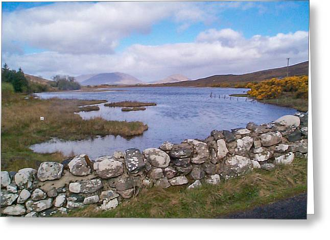 View From Quiet Man Bridge Oughterard Ireland Greeting Card
