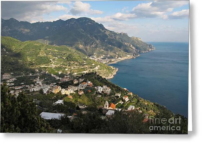 View From Ravello Greeting Card by Kiril Stanchev