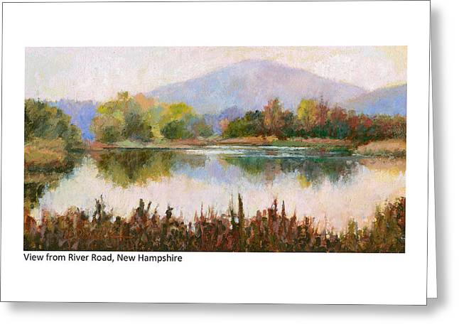 View From River Road New Hampshire Greeting Card