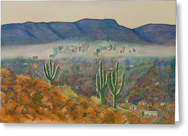 View From Shaw Butte Greeting Card by Melanie Harman